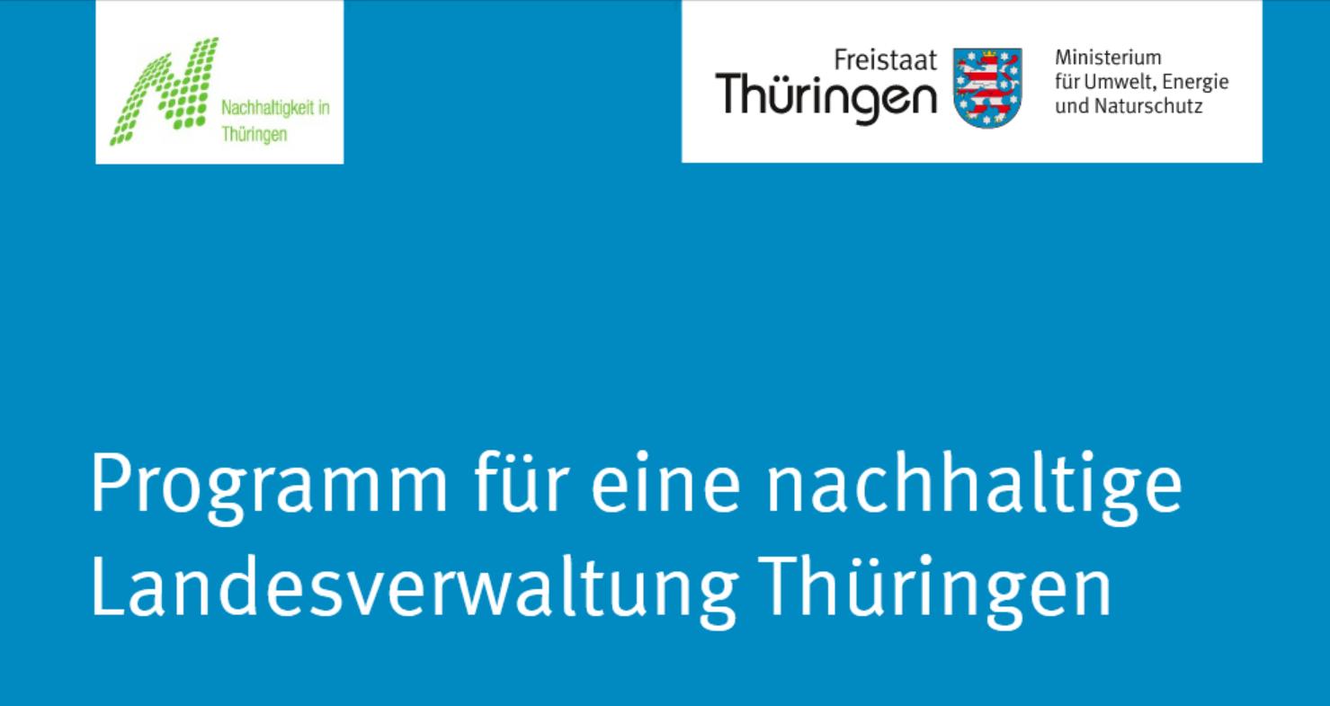 Das Cover des THüringer Nachhaltigkeitsprogramms.
